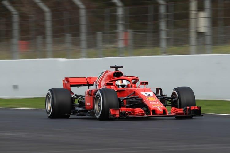 Sebastian Vettel topped day three in Spain