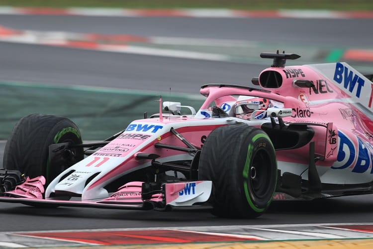 Sergio Perez was eighth fastest on Thursday