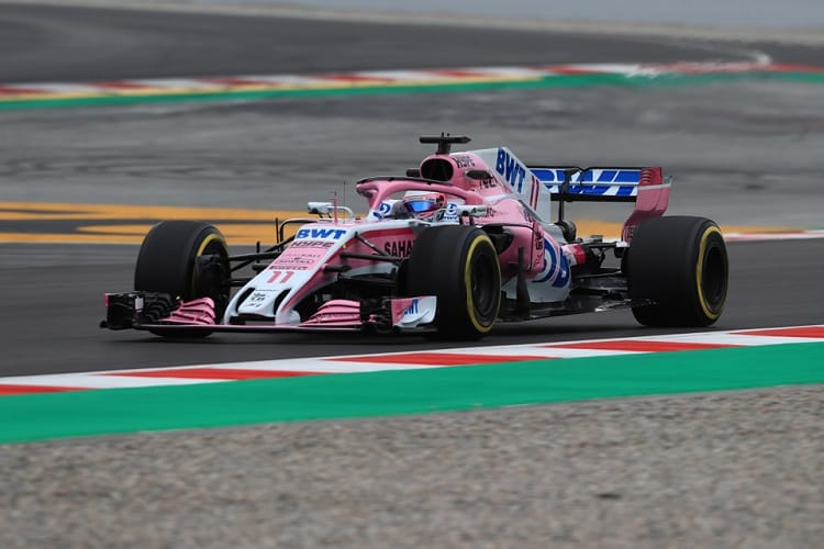 Sergio Perez completed 159 laps on Thursday