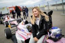 Sophia Floersch is testing with VAR this week in Portugal