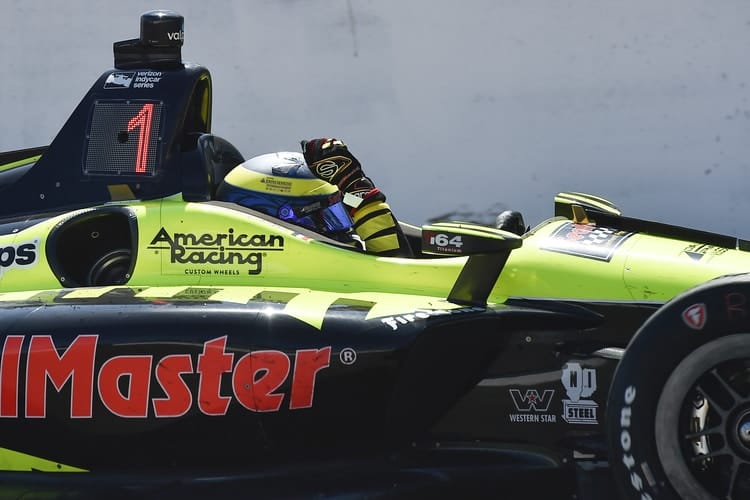 Sebastien Bourdais Steals St Petersburg Victory After Leaders Collide Late The Checkered Flag