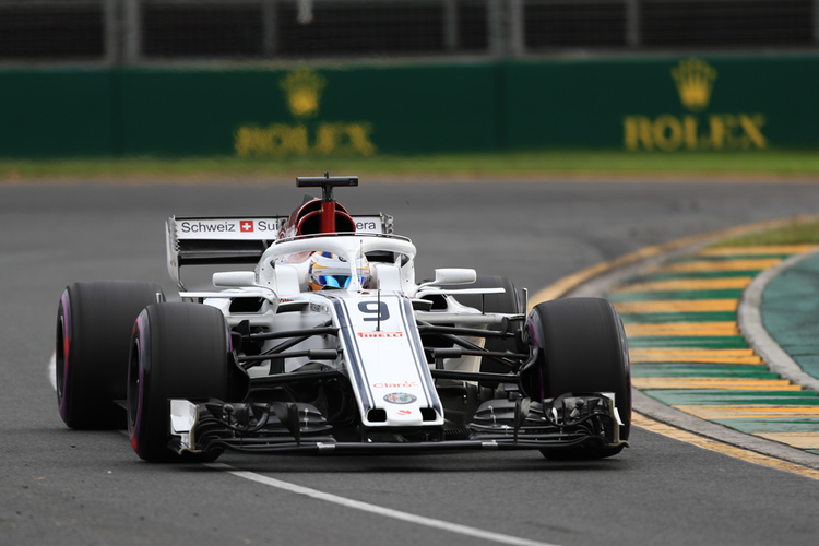 Marcus Ericsson during the 2018 Australian GP