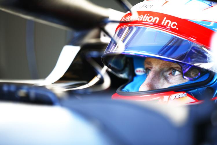 Romain Grosjean in pits, 2018 Australian GP