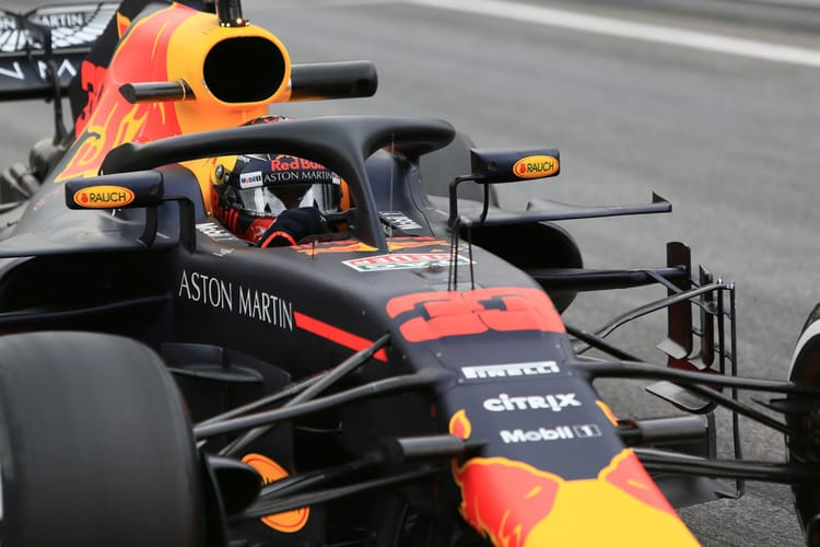 Verstappen during Winter Testing