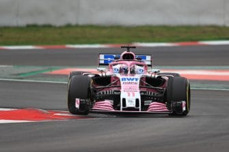 Perez during Winter Testing