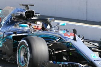 Hamilton during testing
