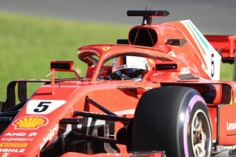 Vettel during practice