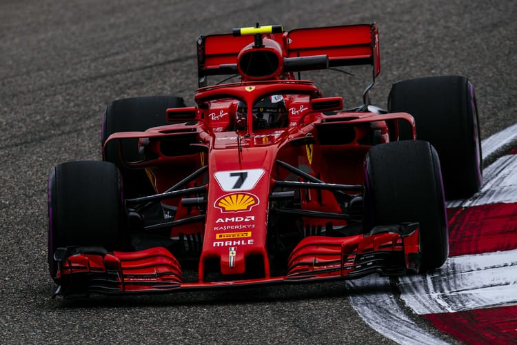 Kimi Raikkonen during the 2018 Chinese GP