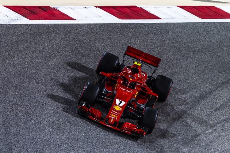 Kimi Raikkonen during qualifying for the 2018 Bahrain GP