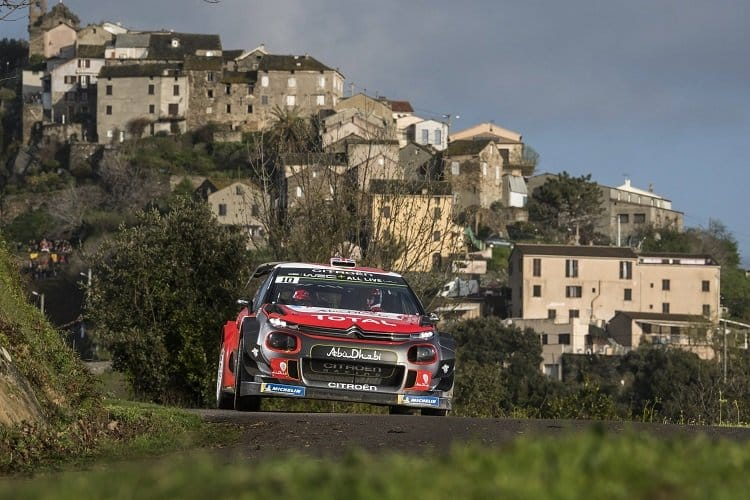 Ogier builds lead as Loeb crashes out