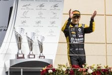 Artem Markelov took victory in the Bahrain Sprint race