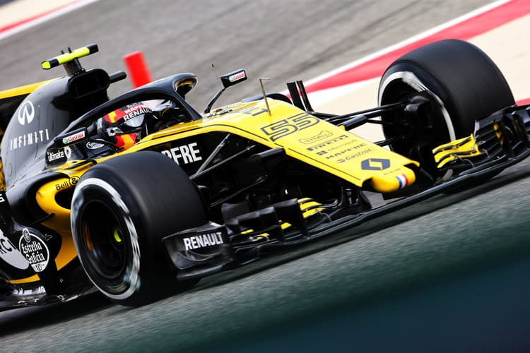 Carlos Sainz Jr. in action in Bahrain