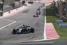 Lando Norris was in a class of one in Bahrain on Saturday