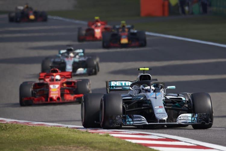 Valtteri Bottas leads the Chinese Grand Prix