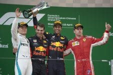 The Chinese Grand Prix podium