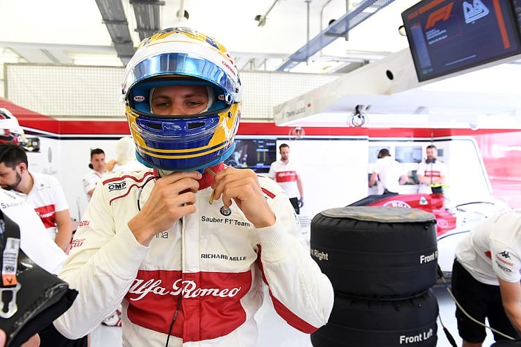 Marcus Ericsson scored two points in Bahrain