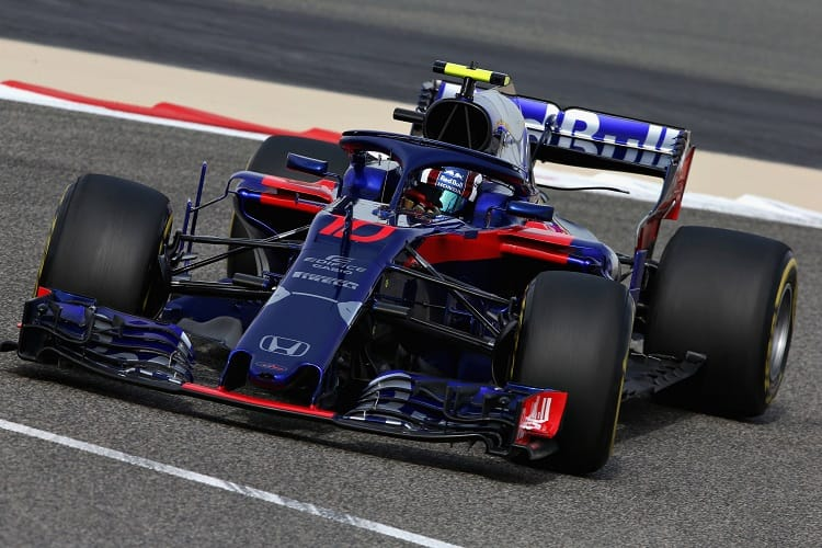 Pierre Gasly was inside the top ten in both Friday sessions