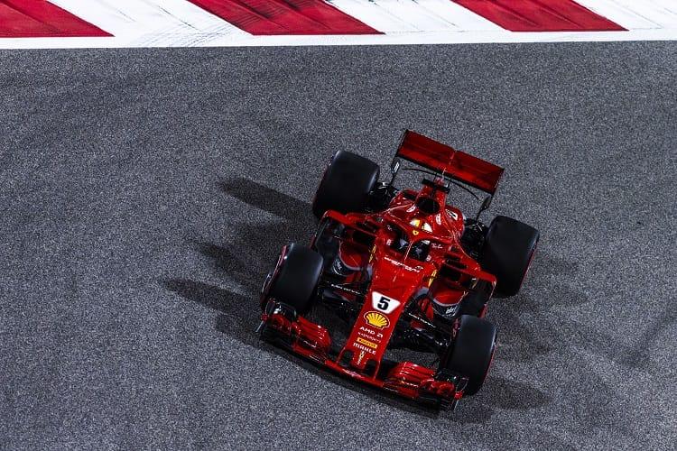 Sebastian Vettel took victory in Bahrain
