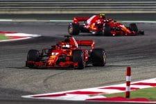 Sebastian Vettel took victory in Bahrain but Kimi Raikkonen retired