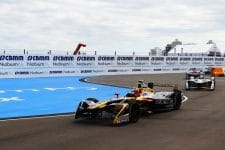 Jean-Eric Vergne leads for Techeetah at Punta Del Este