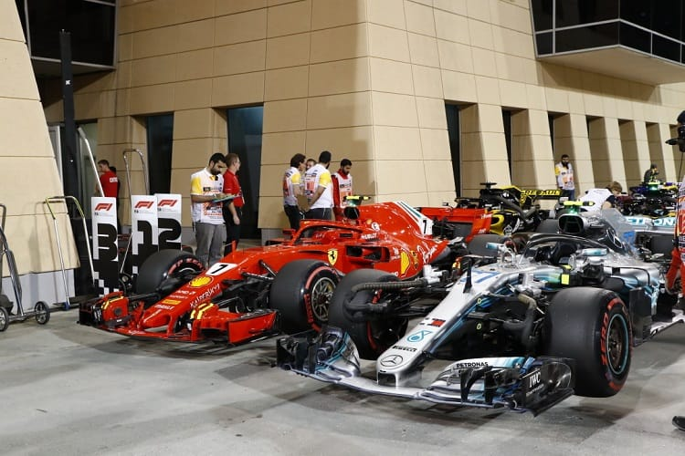 Mercedes were no match for Ferrari in Qualifying