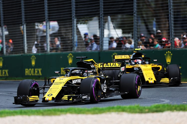 Both Renault's during the 2018 Australian GP