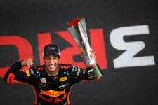 Daniel Ricciardo with his Chinese GP 2018 trophy