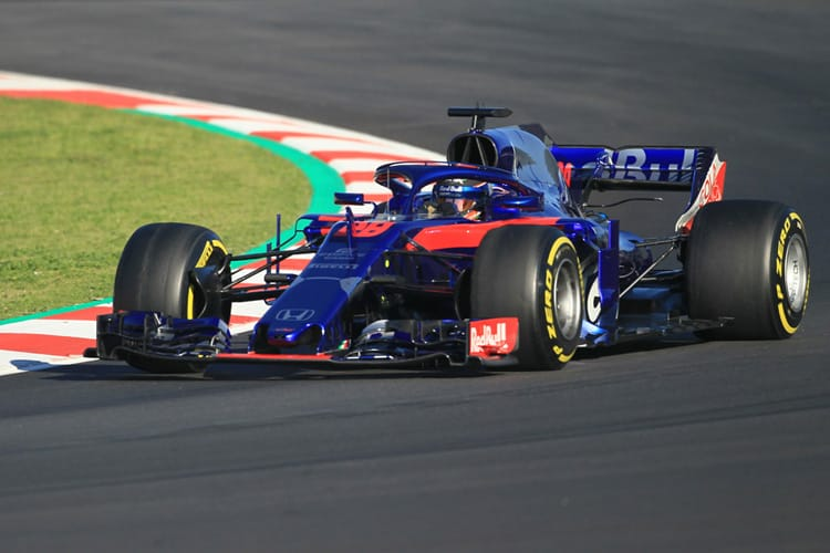 Brendon Hartley takes part in F1 Winter Testing