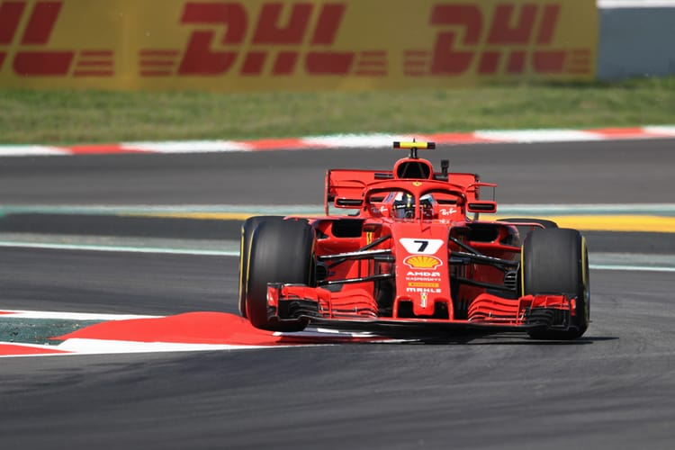 Kimi Raikkonen during qualifying for the 2018 Spanish Grand Prix