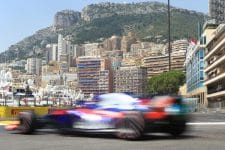 A Toro Rosso charges around the streets of Monaco