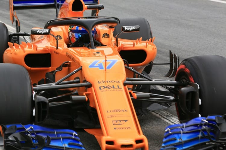 """lando norris: """"it was cool to drive the new mclaren for the first"""