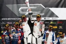 A double 1-3 for the team at Snetterton puts them in the lead of the 2018 British GT team standings