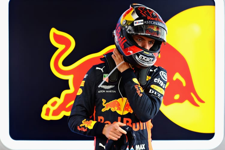 BAKU, AZERBAIJAN - APRIL 28: Max Verstappen of Netherlands and Red Bull Racing prepares to drive in the garage during qualifying for the Azerbaijan Formula One Grand Prix at Baku City Circuit on April 28, 2018 in Baku, Azerbaijan.