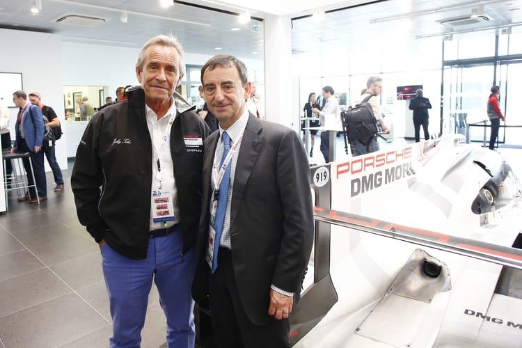 Porsche Pressekonferenz 24h Le Mans 2016, Jackie Ickxs, Gerard Neveu (r-l)