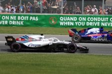 Lance Stroll on his way to the scene of another accident
