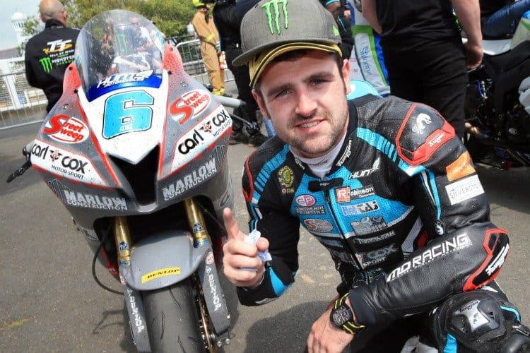 Michael Dunlop wins Supersport TT Race One