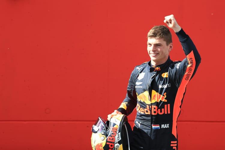 Max Verstappen celebrates victory - Austrian GP 2018