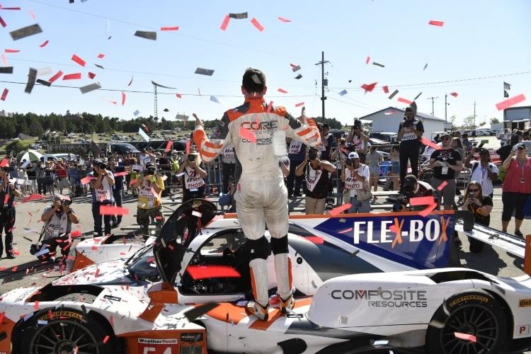 IMSA 2018 - #54 CORE autosport ORECA LMP2, P: Jon Bennett, Colin Braun in Victory Lane.