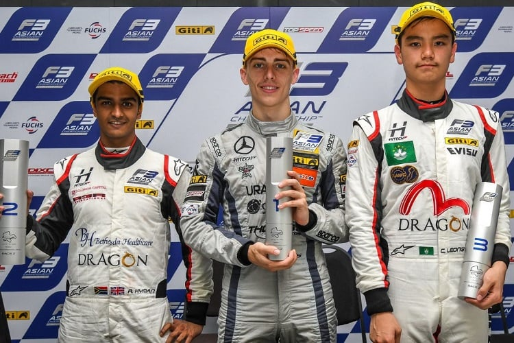 Raoul Hyman, Jake Hughes & Charles Leong - Hitech Bullfrog GP - Sepang International Circuit