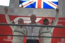 (From L to R) Valtteri Bottas, Dr. Dieter Zetsche & Lewis Hamilton - Mercedes AMG Petronas Motorsport - Hockenheimring