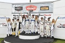 Ford GT Team, Corvette Racing, Porsche GT- Lime Rock Podium GT-LM