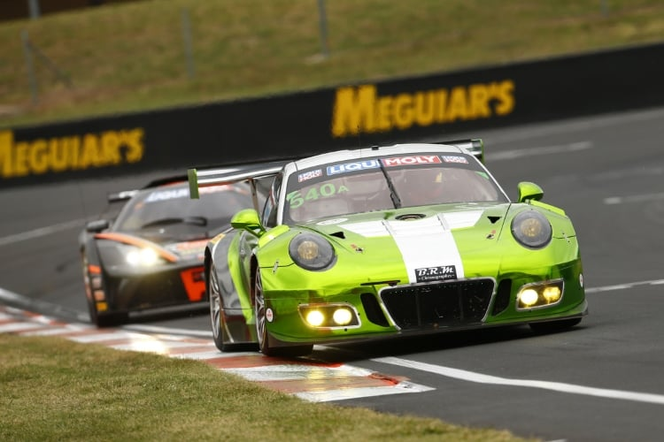 Porsche 911 GT3 R, Black Swan Racing (540): Timothy Pappas, Jeroen Bleekemolen, Marc Lieb, Luca Stolz Bathurst, New South Wales : 12h Bathurst on February, 2, 2018, (Photo by Hoch Zwei / Juergen Tap)
