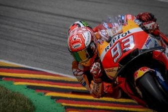 Marc Marquez and Jorge Lorenzo - Sachsenring race 2018