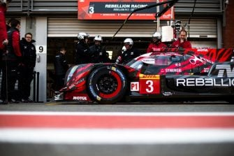 Rebellion Racing #3 in the pit lane
