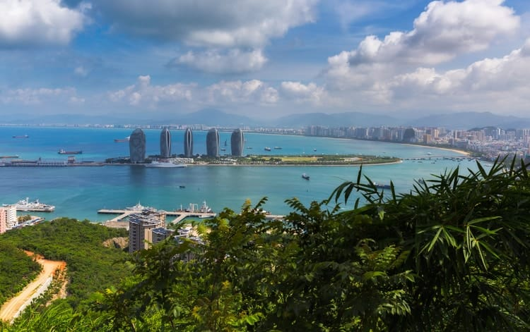 The Picturesque shores of Sanya