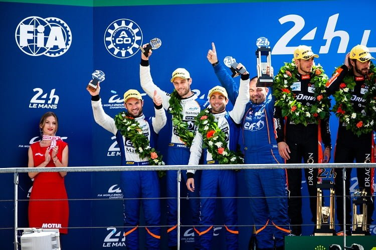 The #26 G-Drive Racing may have won the 24 Hours of Le Mans on the track, but an illegal fuel rig part saw them stripped of the victory, promoting #36 Signatech Alpine to the top step.