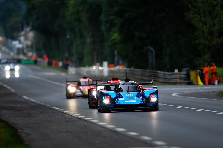 #17 SMP Racing LMP1 car on the Mulsanne Straight
