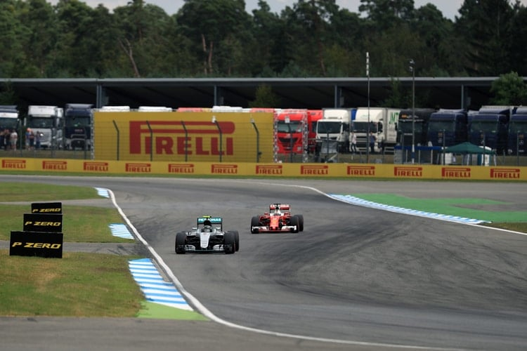 Nico Rosberg, Sebastian Vettel - Formula 1 - 2016 German Grand Prix