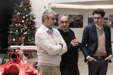 Maurizio Arrivabene, Sergio Marchionne and Mattia Binotto