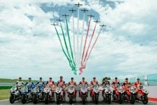 Ducati MotoGP and WorldSBK riders at World Ducati Week for the Race of Champions